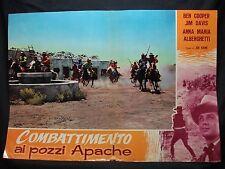 FOTOBUSTA CINEMA - COMBATTIMENTO AI POZZI APACHE - BEN COOPER - 1957 -WESTERN-05