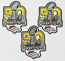LOT OF (3) NFL 50th SUPER BOWL CHAMPIONS DENVER BRONCOS EMBROIDERED PATCH  # 40