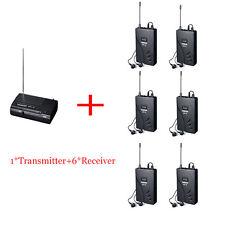 1 Transmitter 6 Receivers Takstar WPM-100 UHF Wireless Monitor Music AudioSystem