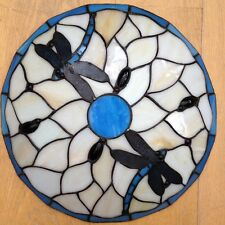 Vintage Tiffany Style Glass Ceiling Light Old Dragon Fly Design Lamp Shade