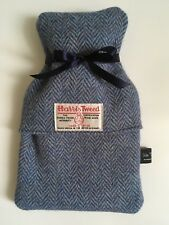 Harris Tweed blue herringbone cover with bottle INCLUDED, scottish,birthday,xmas
