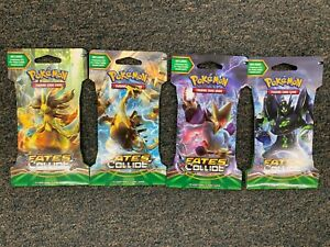 Unopened Pokemon XY Fates Collide 10 Card Booster Pack - 4 Individual Packs