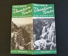 Vintage Trailways Vacation Tours Of The Glorious West Bus Lines ~ Rates