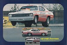 1973 PLYMOUTH DUSTER  ~  BUTCH LEAL  ~  CLASSIC DRAG RACE 2-PAGE MAGAZINE PHOTO