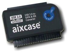 "aixcase USB 3.0 to SATA II + IDE Adapter 2.5"" 3.5"" 5.25"" Festplatten Konverter"