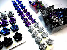 JOBLOT x120 SPARKLING GLITTERY MIXED CARDED/BOXED HAIR CLIPS/ACCESSORIES UK BASE