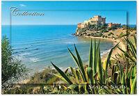 CARTOLINA MARE SEA CASTELLO DI FALCONARA AGRIGENTO SICILIA SICILY POSTCARD