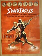 STANLEY KUBRICK rare German 1-sheet  SPARTACUS Kirk Douglas - Art by Peltzer