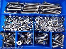 410 pièces vis acier inoxydable DIN 7991 écrous Boîte M8