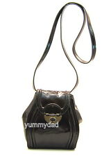 MIMCO OFFBEAT PATENT LEATHER HIP BAG IN ESPRESSO DARK BROWN BNWT RRP$199