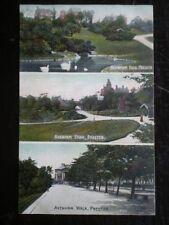 POSTCARD LANCASHIRE PRESTON - AVENHAM PARK - 3 VIEWS