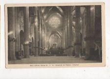 Mallorca Catedral de Palma Interior Spain Vintage Postcard 445a