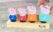 PEPPA PIG WOODEN FAMILY figuras Play Set MUMMY DADDY GEORGE Juguetes (FSC Madera)