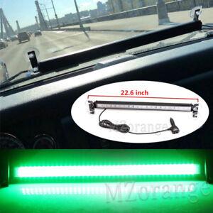 80 LED Green Car Strobe Warning Moving Light Bar Flash Signal Emergency Hazard