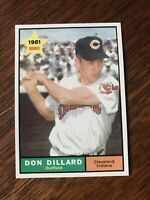 1961 TOPPS #172 DON DILLARD CLE INDIANS— PACK FRESH💥*** (wph)