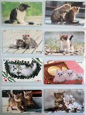 art.965-n.8 telephons cards, Gatti, CATS, NTT Japan, Giappone