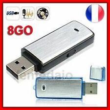 Micro Espion Clé USB Enregistreur Dictaphone 8GO 8GB Compact Facile Utilisation