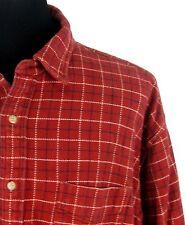 J. Crew Shirt Sz XXL Men's Rust Check Heavy Cotton Flannel Button Front