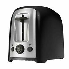 Black+Decker 2-Slice Extra Wide Slot Toaster, Black/Silver, Tr1278B