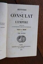 Histoire du Consulat et de l'Empire Napoléon I par Thiers 1862 Tome 20 Waterloo