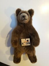 Authentic Kosen Stuffed Brown Bear Grizzly Handmade in Germany Vintage 11 inches