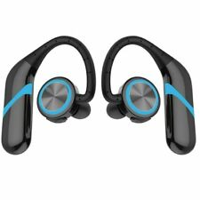 Wireless Bluetooth 5.0 Headset Ear-Hook Earphone Headphone With Mic HiFi Stereo