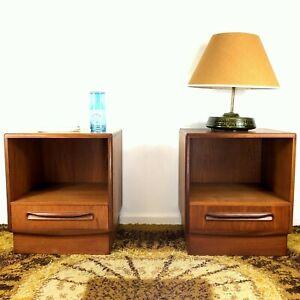 Fabulous Mid Century Teak Fresco Bedside Tables/Cabinets G Plan V B Wilkins