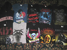 10 band tour t-shirt S lot Red Hot Chili Peppers/Jay-Z/Avenged Sevenfold/Kiss