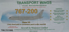 TRANSPORT WINGS TWL7211000 - Boeing 767-200 Base Kit 1:72 Aircraft In Miniatures