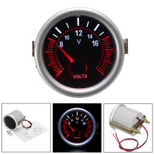 2'' 52mm 12V White &Red LED Car Boat 8-16V Voltmeter Volt Voltage Gauge Meter US