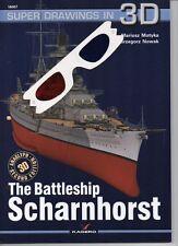 The Battleship Scharnhorst - Super Drawings in 3D - Kagero ENGLISH