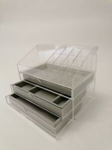 Acryl Display Organizer Make - Up & Schmuck-Box transparent Schmuckkasten