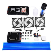 Diy Pc Liquid Water Cooling Kit Radiator Pump Reservoir 240mm Cpu Bolck Heatsink
