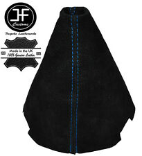 BLUE STITCH MANUAL BLACK SUEDE GEAR GAITER FOR CITROEN C2 2003-2009