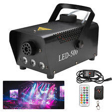 Nebelmaschine Nebel Effekt 500W Mini LED Bühnenlicht RGB Fogger Effektmaschine