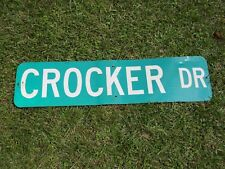 "New listing Retired street sign Crocker Drive 36"" x 9"" - 1-sided - Jacksons' Gap, Alabama"