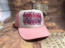 🔥Rockstar  Los Muertos Sugar Geometrix Energy Drink Hat Pink Snapback Trucker🔥