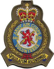 Numéro 666 Escadron britannique Armée Air Corps AAC écusson olive mod patch