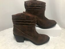 New Arizona Jeans CO, Memory Foam Size 5M Women's Gianna Brown Ankle Boots