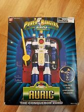 Power Rangers Zeo: Deluxe Auric - The Conqueror Zord in box , missing Sword.