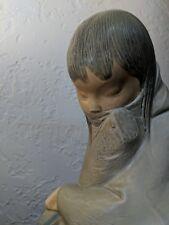 "Vintage Lladro Figurine Eskimo Girl, Gres Finish 11.75"" Tall. Beautiful!"