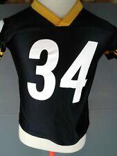 Boys Pittsburgh Steelers black nylon short sleeve jersey #34 Mendenhall...