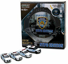 NYPD 4 Car Set - 2016 Dodge Charger FORD Crown Explorer **Greenlight 1:64 OVP
