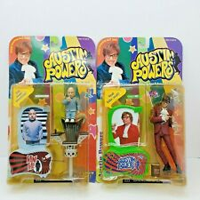 McFarlane Toys Austin Powers Action Figures Powers and Mini Me Talking 1999 New!