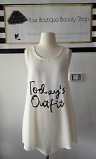 TODAY OUTFIT WOMEN TEE TOP PRINT GEEK CASUAL BEACH SUMMER UNIQUE FUN UNIQUE GIRL