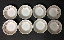 Alfred Meakin Glo-White Ironstone 22k Gold Fleur De Lys 8 Dessert Fruit Bowls