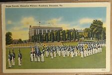 Dress Parade Staunton Military Academy Staunton Virginia Vintage Linen Postcard