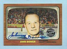 JOHN BOWER 2002/03 TOPPS HERITAGE REPRINT SIGNATURE AUTOGRAPH AUTO