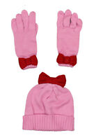Kate Spade Girls 12Y-14Y Bow Accented Gloves & Winter Hat Gift Box Set NIB Pink