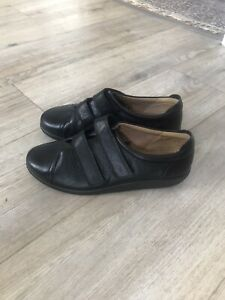 Hotter Comfort Concept 'Leap' black leather shoes, size 5 / Eu 38, EEE. New